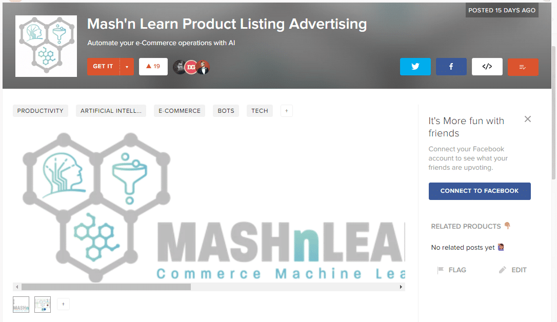 Product Hunt with Mash'n Learn